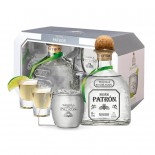 Kit Tequila Patron Silver + Caneca + 2 Copos