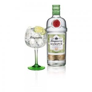 Kit Gin Tanqueray Rangpur 1000 ml + Taça Vidro