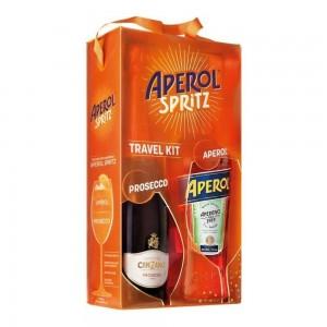 Kit Aperitivo Aperol 750 ml + Cinzano Prosecco = Aperol Spritz