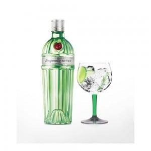 Kit Gin Tanqueray Ten 750 ml + Taça Vidro Oficial