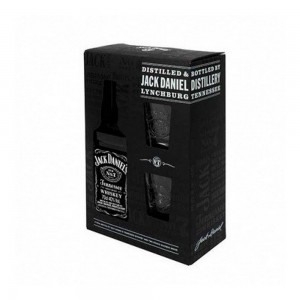 Kit Whisky Jack Daniel's 750 ml + 2 Copos