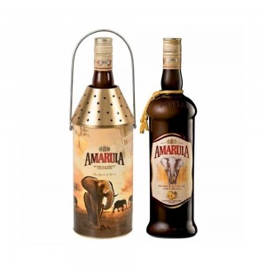 Kit Licor Amarula com Porta Vela 750 ml
